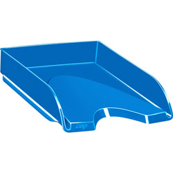 CEP Letter Tray, Stackable, 10-1/10 inWx13-7/10 inLx2-3/5 inL, Ocean Blue