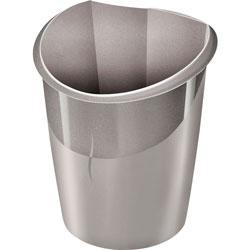 CEP Waste Bin, 15-Liter Capacity, 11 inWx12-1/2 inDx15 inH, Gray