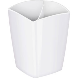 CEP Pencil Cup, Freestanding, 3 inWx3 inDx3-3/4 inH, White