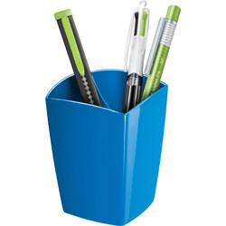 CEP Pencil Cup, Freestanding, 2-9/10 inWx2-9/10 inLx3-3/4 inH, Blue