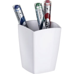 CEP Pencil Cup, Magnetic, 3 inWx3 inDx3-3/4 inH, White