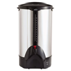 CoffeePro 100-Cup Percolating Urn, Stainless Steel