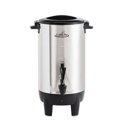 CoffeePro 30-Cup Percolating Urn, Stainless Steel