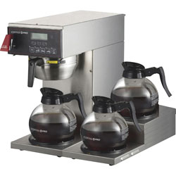 CoffeePro Coffee Brewer, 3-Burner, 14-1/4 inWx15 inLx15-3/4 inH, Sunstone