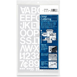 "Chartpak/Pickett Press On Vinyl Uppercase Letters/Numbers, 1"" High, White"