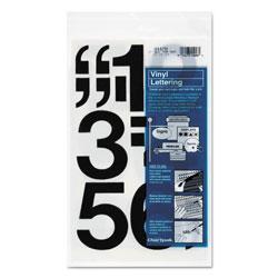 Chartpak/Pickett Press-On Vinyl Numbers, Self Adhesive, Black, 3 inh, 10/Pack