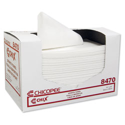 Chicopee Sports Towels, 14 x 24, White, 100 Towels/Pack, 6 Packs/Carton