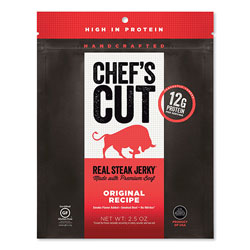 Chef's Cut Real Steak Jerky, Original Recipe, 2.5 oz Bag
