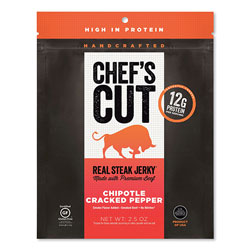 Chef's Cut Real Steak Jerky, Chipolte Cracked Pepper, 2.5 oz Bag