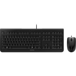 Cherry Keyboard and Mouse Set, Wired, Black