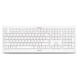 Cherry Keyboard, Wired, 17-3/5 inWx6-1/5 inLx1-1/10 inH,Pale Gray