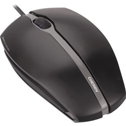 Cherry Mouse, Wired, Optical Sensor, 4-2/5 inWx2-7/10 inLx1-2/5 inH, Black