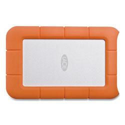 Lacie Rugged Portable External Hard Drive, 2 TB, USB-C and USB 3.0