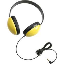 Califone Childs Stereo Headphone, Yellow
