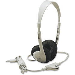 Califone Lightweight Multimedia Headphones, Beige