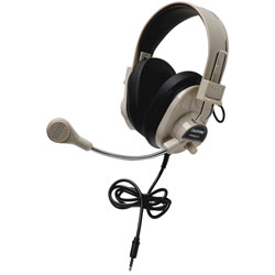 Califone Rugged Headset w/To Go Plug, Beige
