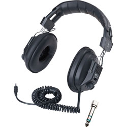 Califone Stereo/Mono Headphones, Black