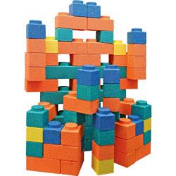 Chenille Kraft Gorilla Blocks, Assorted Colors, 66/Pack