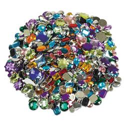 Creativity Street Acrylic Gemstones Classroom Pack, 1 lb, Assorted Colors/Sizes