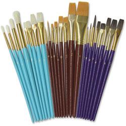 Chenille Kraft Multimedia Paint Brush Set, 24Pcs, Assorted