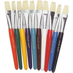 """Chenille Kraft Flat Natural Bristle Paint Brush with 7 1/2"""" Handle"""