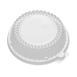 D&W Finepack CaterLuxe 10, 12 oz. Rim Bowl Lid/6 in Plate High Dome Lid