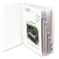 C-Line Sheet Protectors with Index Tabs, Clear Tabs, 2 in, 11 x 8 1/2, 8/ST