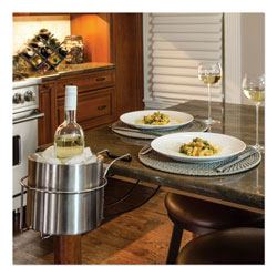 C-Line Wine By Your Side, Steel Frame/Red Wine Adapter/Ice Bucket, 161.06 cu in, Stainless Steel