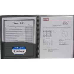 C-Line Eight-Pocket Portfolio, 11 x 8-1/2, Smoke