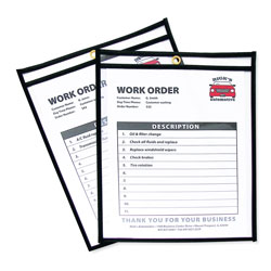C-Line Shop Ticket Holders, Stitched, Both Sides Clear, 50 Sheets, 8 1/2 x 11, 25/Box