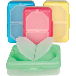 C-Line Storage Box, 2-Compartments, Assorted