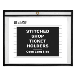 C-Line Shop Ticket Holders, Stitched, Sides Clear, 50 Sheets, 11 x 8 1/2, 25/Box