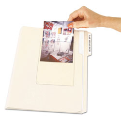 C-Line Peel & Stick Photo Holders, 4 3/8 x 6 1/2, Clear, 10/Pack