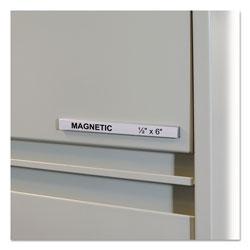C-Line HOL-DEX Magnetic Shelf/Bin Label Holders, Side Load, 1/2 in x 6 in, Clear, 10/Box
