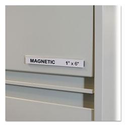 C-Line HOL-DEX Magnetic Shelf/Bin Label Holders, Side Load, 1 in x 6 in, Clear, 10/Box