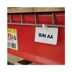 C-Line Wire Rack Shelf Tag, Side Load, 3.5 x 1.5, White, 10/Pack