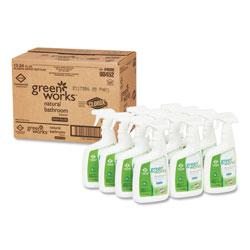 Green Works Bathroom Cleaner, 24 oz Spray Bottle, 12/Carton