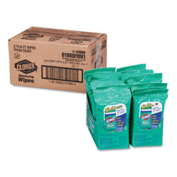 Clorox Disinfecting Wipes On The Go, Fresh Scent, 7 x 8, 9/Pack, 24 Packs/Carton