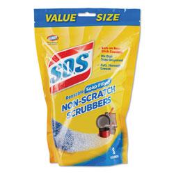 S.O.S. Non-Scratch Soap Scrubbers, Blue, 8/Pack