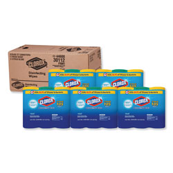 Clorox Disinfecting Wipes, 7x8, Fresh Scent/Citrus Blend, 35/Canister, 3/PK, 5 Packs/CT