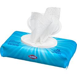 Clorox Disinfecting Wipes, Crisp Lemon, 75 Wipes, 6/CT
