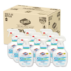 Clorox Fuzion Cleaner Disinfectant, Unscented, 32 oz Spray Bottle, 9/Carton