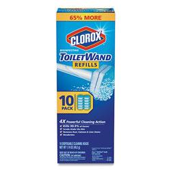Clorox Disinfecting ToiletWand Refill Heads, 10/Pack, 6 Packs/Carton