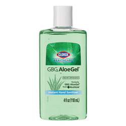 Clorox GBG AloeGel Instant Hand Sanitizer, 4 oz Bottle, 24/Carton