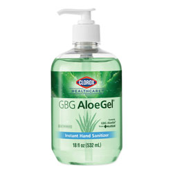 Clorox GBG AloeGel Instant Hand Sanitizer, 18 oz Bottle, 12/Carton
