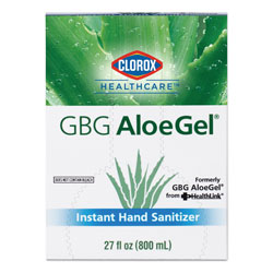 Clorox GBG AloeGel Instant Hand Sanitizer, 800 mL Bag-in-a-Box, 12/Carton