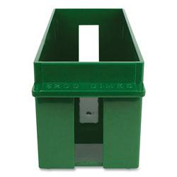 Controltek Coin Tray, Dimes, 1 Compartment, 10.5 x 4.75 x 5, Green