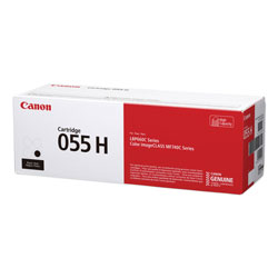 Canon 3020C001 (055H) High-Yield Toner, 7,600 Page-Yield, Black
