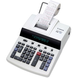 Canon Desktop Calculator, Business, 2 Color Print, 11 in x 17 in x 5-4/5 in, WE