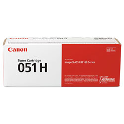 Canon 2169C001 (051H) High-Yield Toner, 4100 Page-Yield, Black